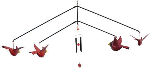 Blue Handworks Cardinals Chimes Mobile