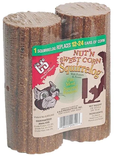 C&S Products 32 oz. Nut & Sweet Corn Squirrel Log