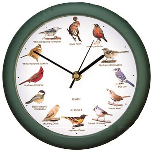 Mark Feldstein Original 8 inch Singing Bird Clock Anniversary Edition