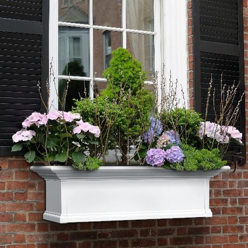 "Mayne Yorkshire Window Box 3FT White ""KD"""