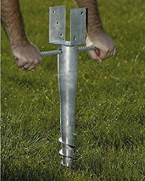 Mayne 580D-BK No Dig Ground Screw Anchor