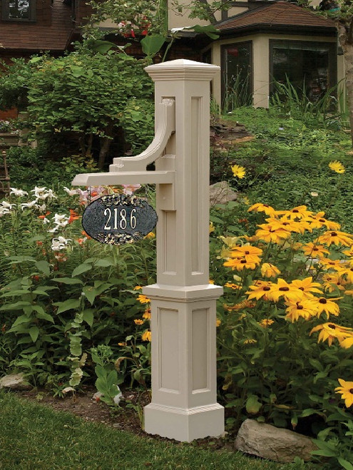 Mayne Woodhaven Address Sign Post Clay