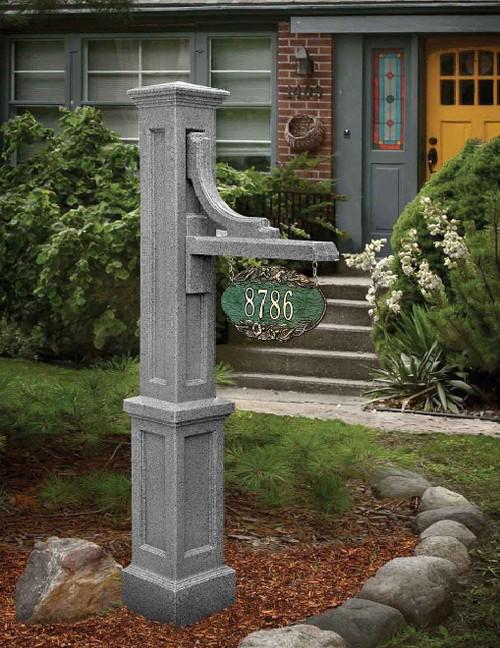 Mayne Woodhaven Address Sign Post Granite