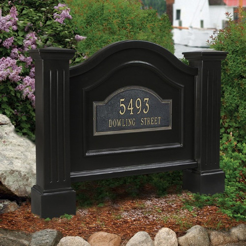 Mayne Nantucket Address Sign in Black