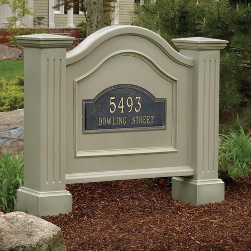 Mayne Nantucket Address Sign in Clay