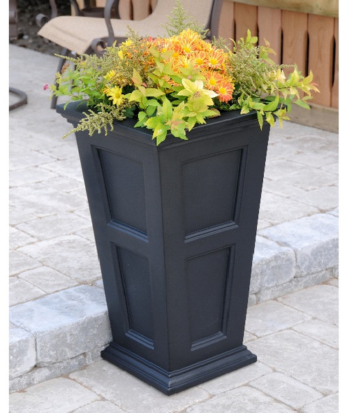 Mayne Fairfield Tall Planter Black