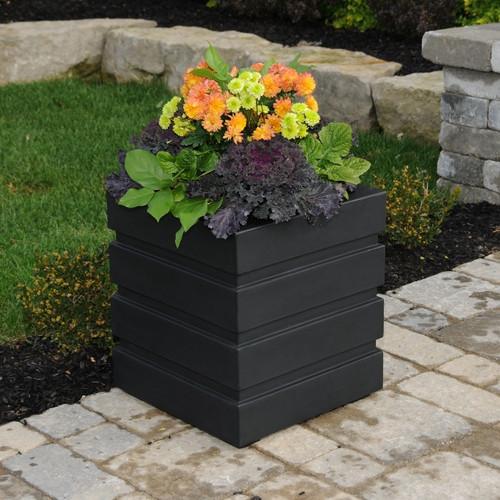 Mayne Freeport Patio Planter 18x18 Black
