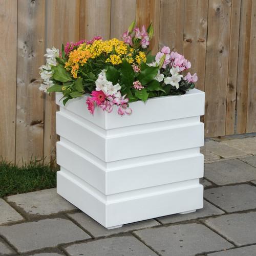 Mayne Freeport Patio Planter 18x18 White