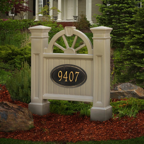 Mayne Winchester Address Sign in Clay