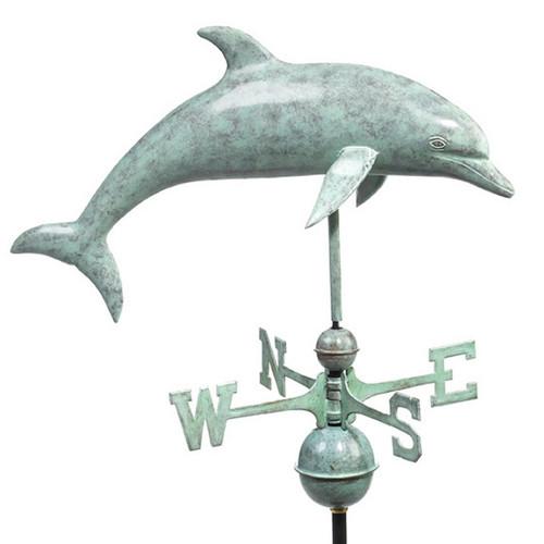 Good Directions Dolphin Weathervane - Blue Verde Copper 9507V1