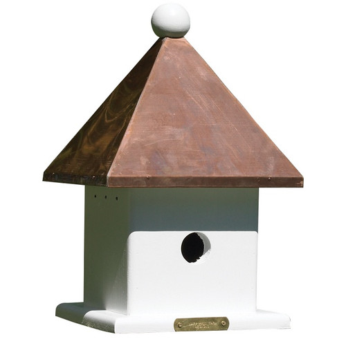 Lazy Hill Farm Designs Mini Bird House with Polished Copper Roof 42423
