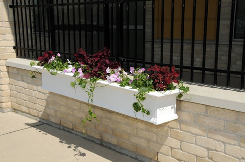 Mayne Yorkshire Window Box Planter 8ft. White 8828-W
