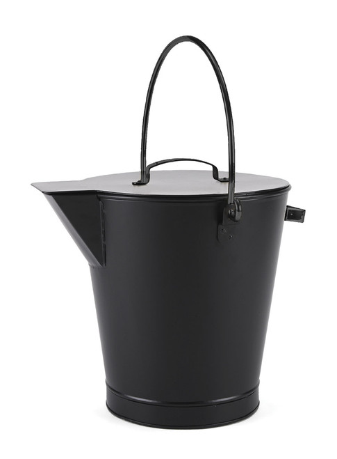Achla All Black Fireplace Ash Bucket ASH-01