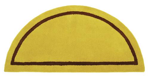 """Achla Minuteman Half Round Rug Amber Green 44"""" x 22"""" H-6"""