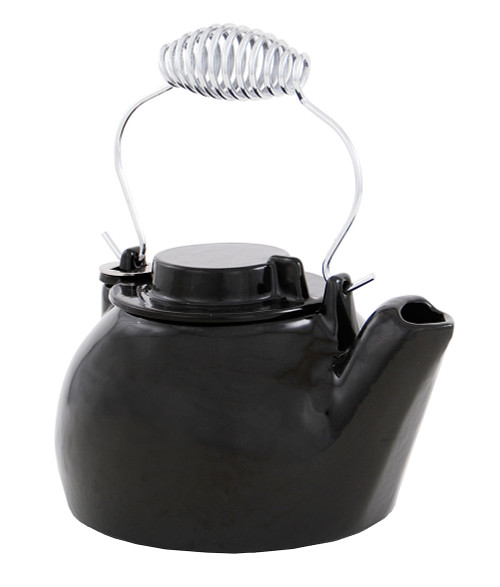 Achla Minuteman 2.5 Quart Cast Iron Humidifying Teapot Kettle T-16-BK