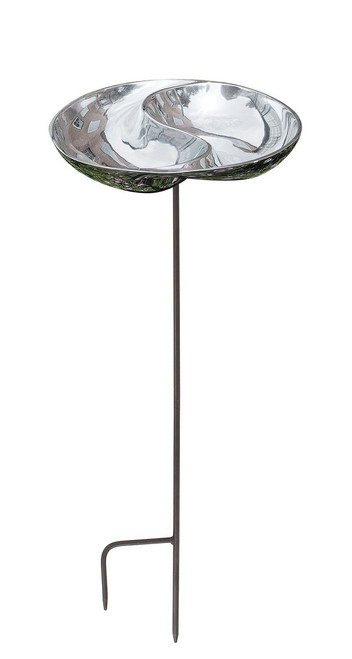 Achla Yin and Yang Birdbath with stand  BB-03-S