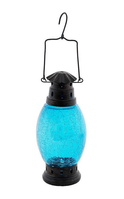 Achla Crackle Glass Lantern Teal  CRL-01TB