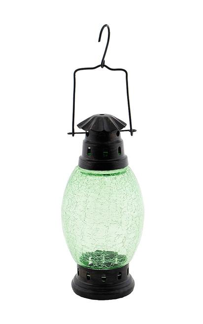 Achla Crackle Glass Lantern Fern Green  CRL-01LG