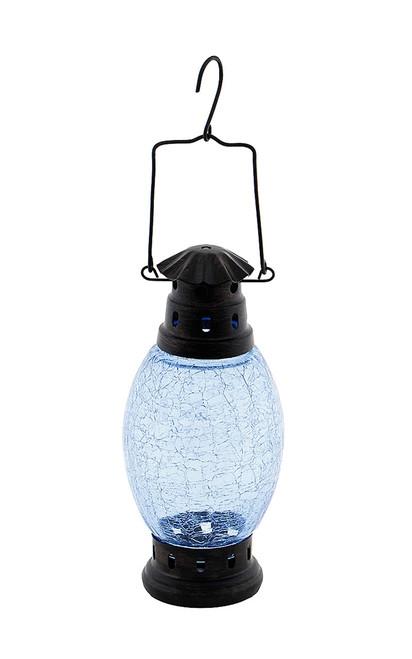 Achla Crackle Glass Lantern Cool Blue  CRL-01BLL