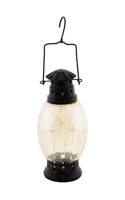 Achla Crackle Glass Lantern Apricot Ice  CRL-01AP