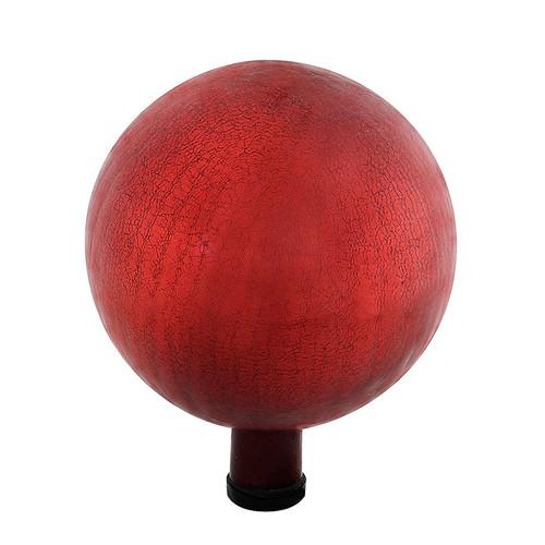 "Achla Gazing Globe Ball 10"" Red Crackle G10-RD-C"