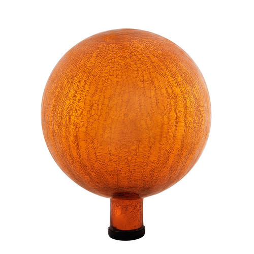 "Achla 10"" Gazing Globe Ball Mandarin Crackle G10-M-C"