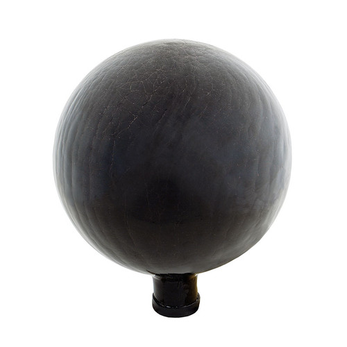 "Achla 10"" Gazing Globe Ball Black Smoke Crackle G10-BSM-C"