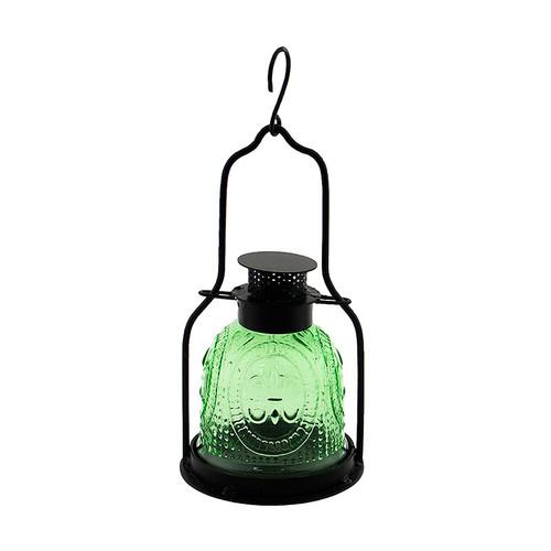 Achla Decorative Iron and Glass Lantern Fern Green ML-03LG