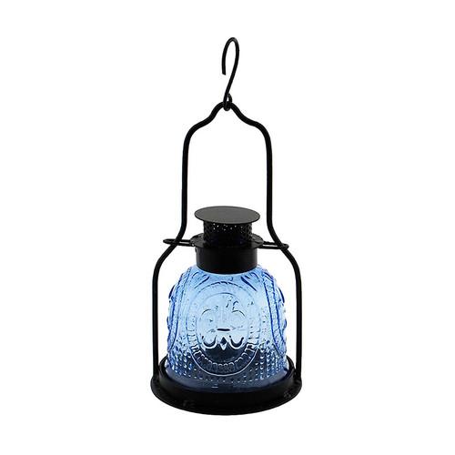 Achla Decorative Iron and Glass Lantern Cool Blue ML-03BLL