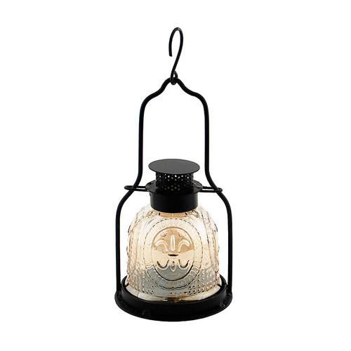 Achla Decorative Iron and Glass Lantern Apricot Ice ML-03AP