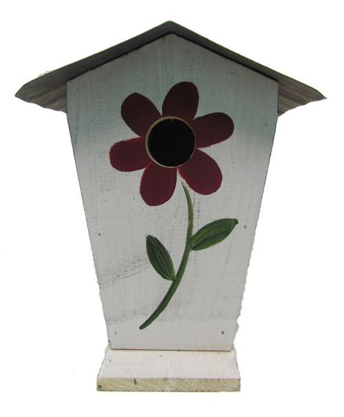Bird-N-Hand Distressed Wood Flower Birdhouse Decorative Bird House SM25