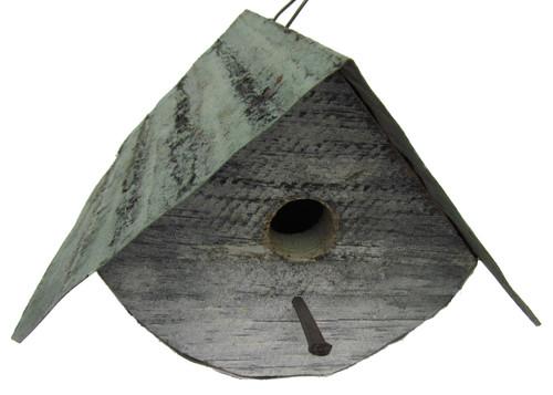Bird-N-Hand Distressed Wood Round Wren Birdhouse Decorative Bird House SM11B