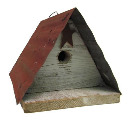 Bird-N-Hand Distressed Wood Star Wren Birdhouse Decorative Bird House SM11A