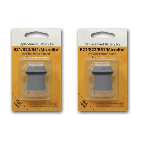 2 Invisible Fence R21 R22 and R51 Compatible Replacement Dog Collar Battery
