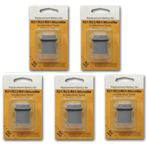 5 Invisible Fence R21 R22 and R51 Compatible Replacement Dog Collar Battery