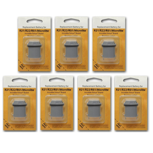 7 Invisible Fence R21 R22 and R51 Compatible Replacement Dog Collar Battery
