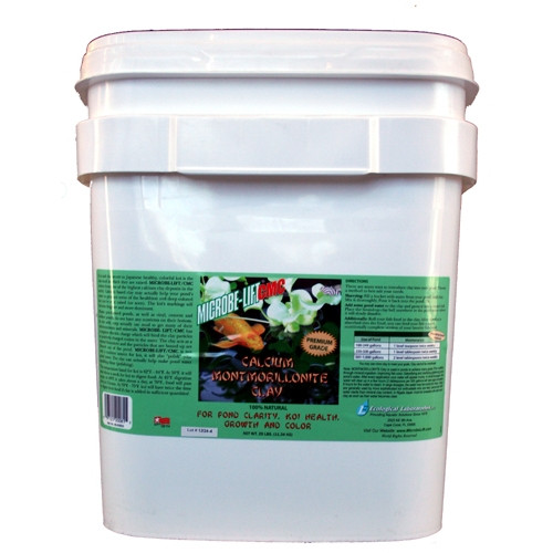 Microbe-Lift Montmorillonite Clay 25  Clay is used in ponds to achieve many goals; improving fish color, detoxifying and clarifying pond water, fish nutrition through mineral ingestion and for immunity against diseases.