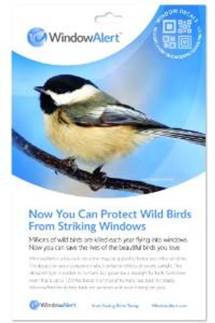 Window Alert Modern Square Decal Prevent Bird Strikes 4 per package ( WINDA10)