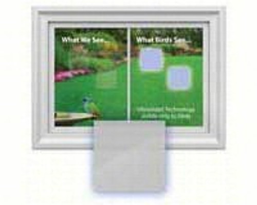 Window Alert Square Decal Prevent Bird Strikes 4 per package ( WINDA8)