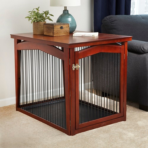 Merry Pet 2-in-1 Decorative Dog Pet Cage Crate and Gate Medium PH0101751800