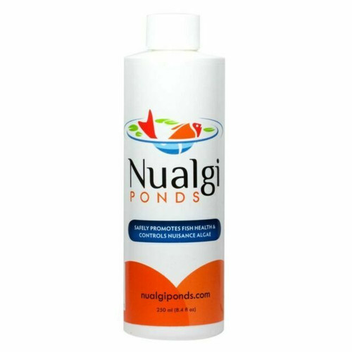 Nualgi Ponds Fish Health and Algae Control 250 ml Safe For Fish Plants Birds and Pets