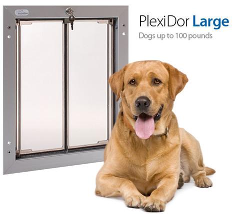 PlexiDor Performance Pet Door Dog Door PD DOOR LARGE SV SILVER