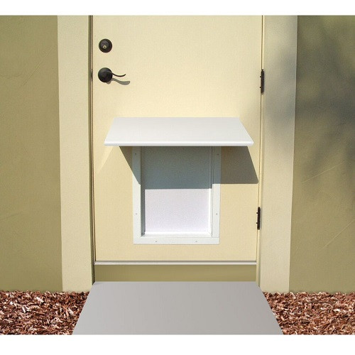 PlexiDor Performance Pet Door Dog Door AWNING SMALL WH WHITE