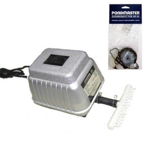 Pondmaster AP 60 Deep Water Air Pump 5500 Cu.In./Min & Replacement Diaphragm Kit Pondmaster 04560 ( 4560)