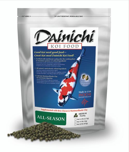 Dainichi All Season Koi Food Pellets . Package Small Pellets 1112