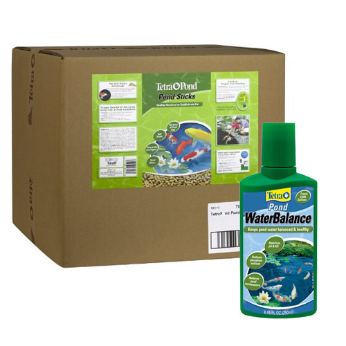 Tetra Pond 16457 Tetra  Floating Food Sticks 11lbs. 40 Liter  Plus FREE Tetra Water Conditioner