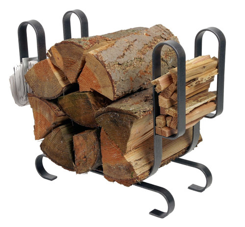 Enclume Large Modern Log Rack Hammered Steel LR19A