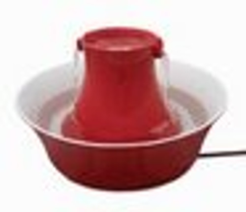 Drinkwell Avalon Red Porcelain Fountain PWW00-14376
