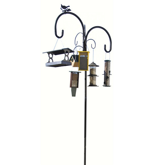 LPI Squirrel Stopper Yellowstone Old Faithful Bird Feeder Pole No Baffel YS07