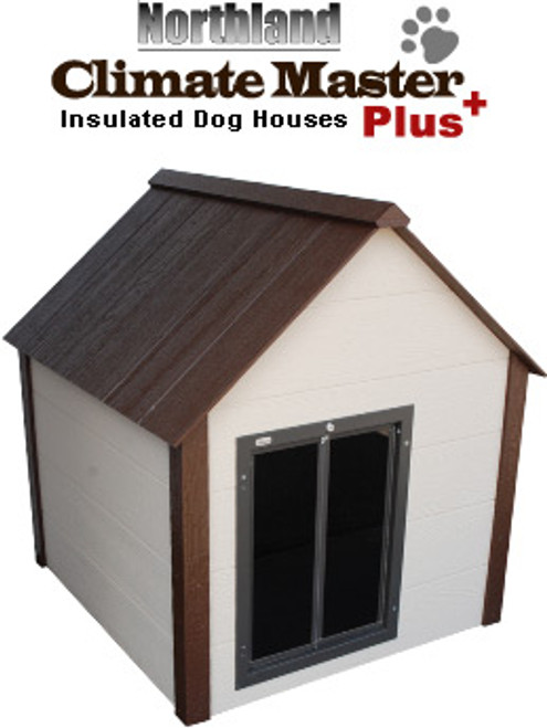 Northland CMP-M Medium Climate Master Plus Large Insulated Dog House With Premium All Weather Dog Door